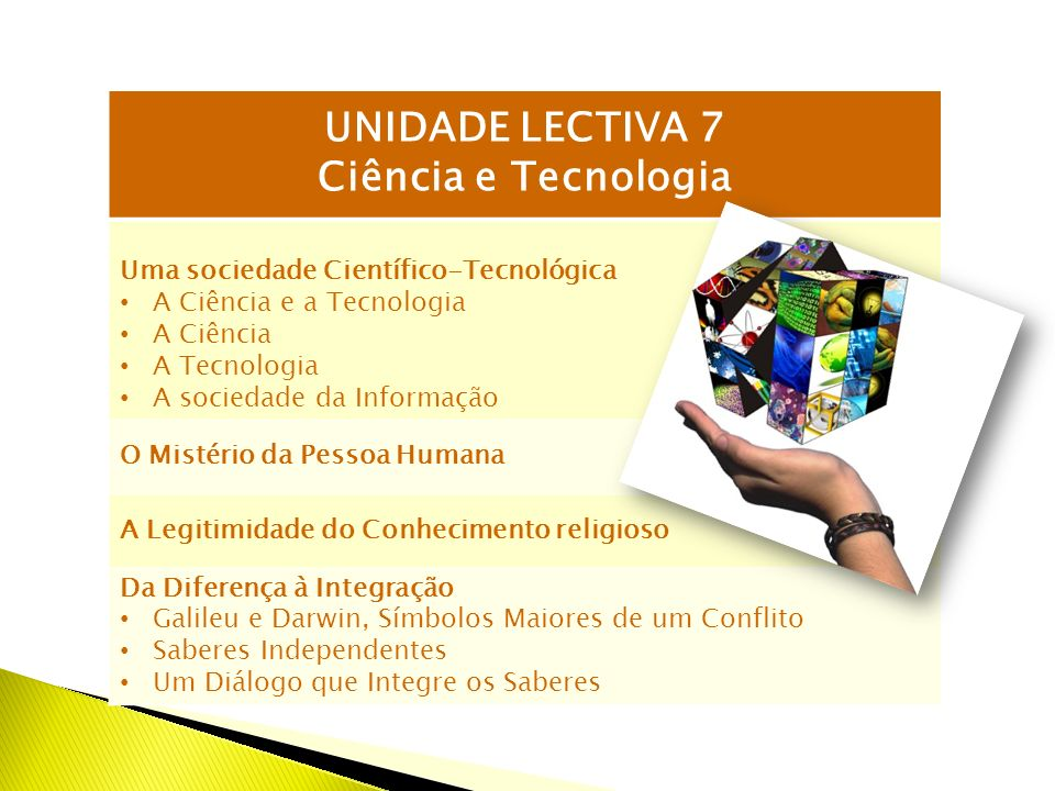 UNIDADE LECTIVA 7 Ciência e Tecnologia