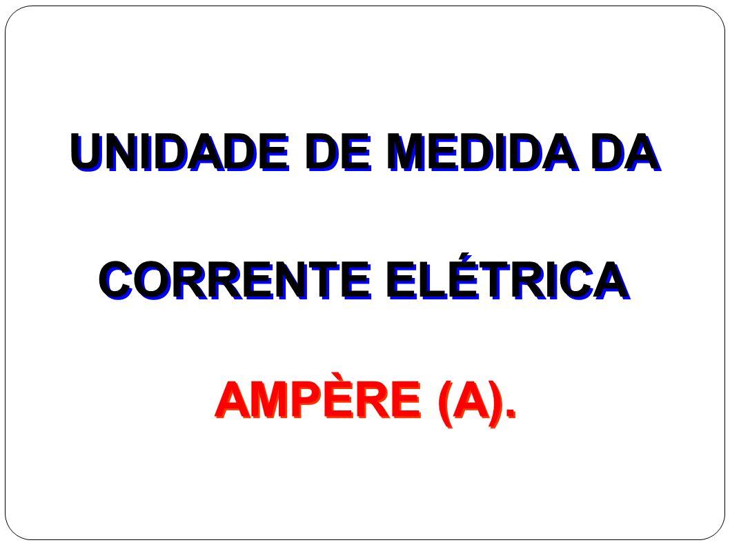 UNIDADE DE MEDIDA DA CORRENTE ELÉTRICA