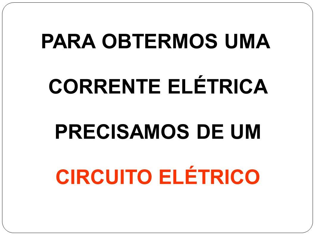 PARA OBTERMOS UMA CORRENTE ELÉTRICA PRECISAMOS DE UM CIRCUITO ELÉTRICO