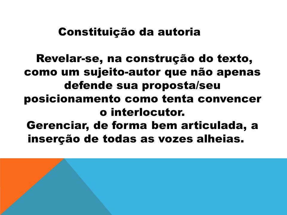 Constituição da autoria