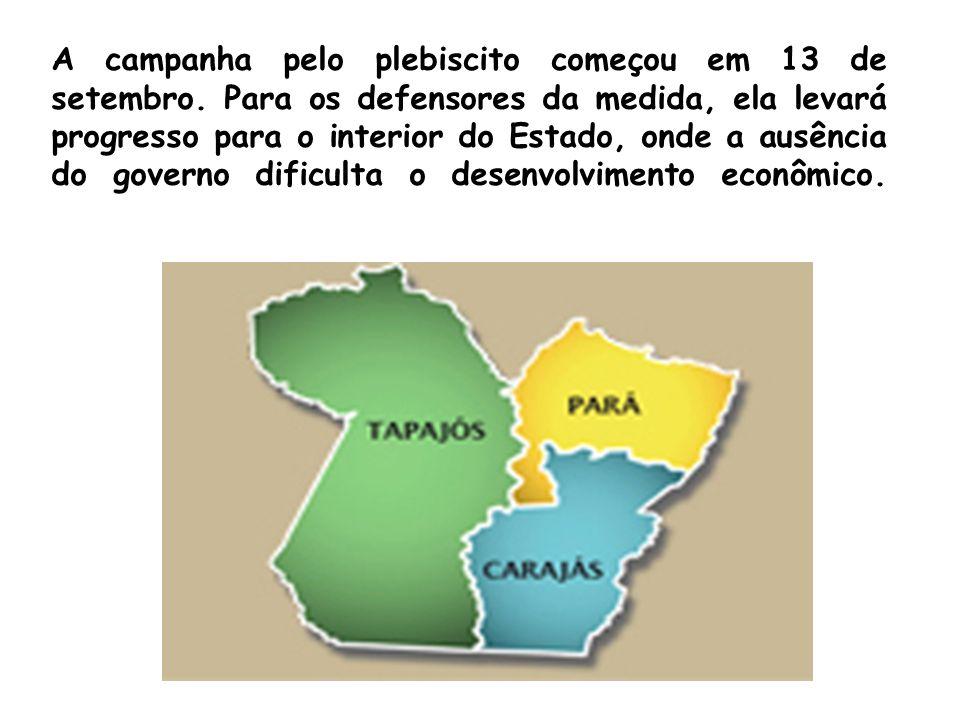 A campanha pelo plebiscito começou em 13 de setembro