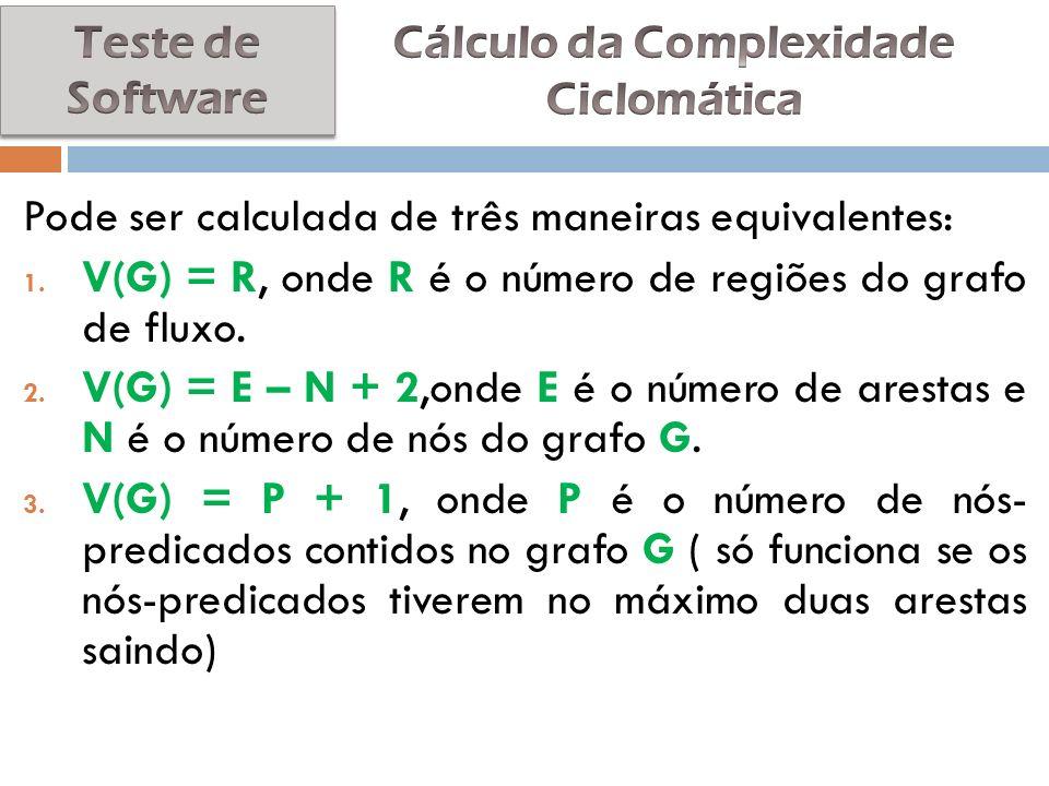 Cálculo da Complexidade Ciclomática