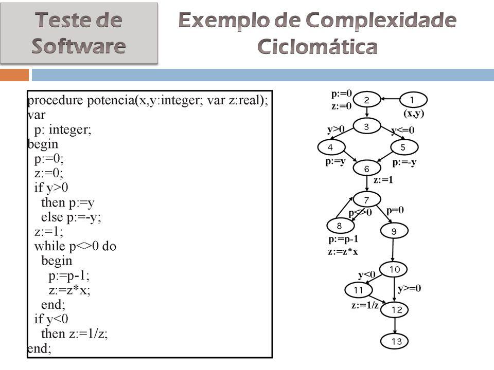 Exemplo de Complexidade Ciclomática