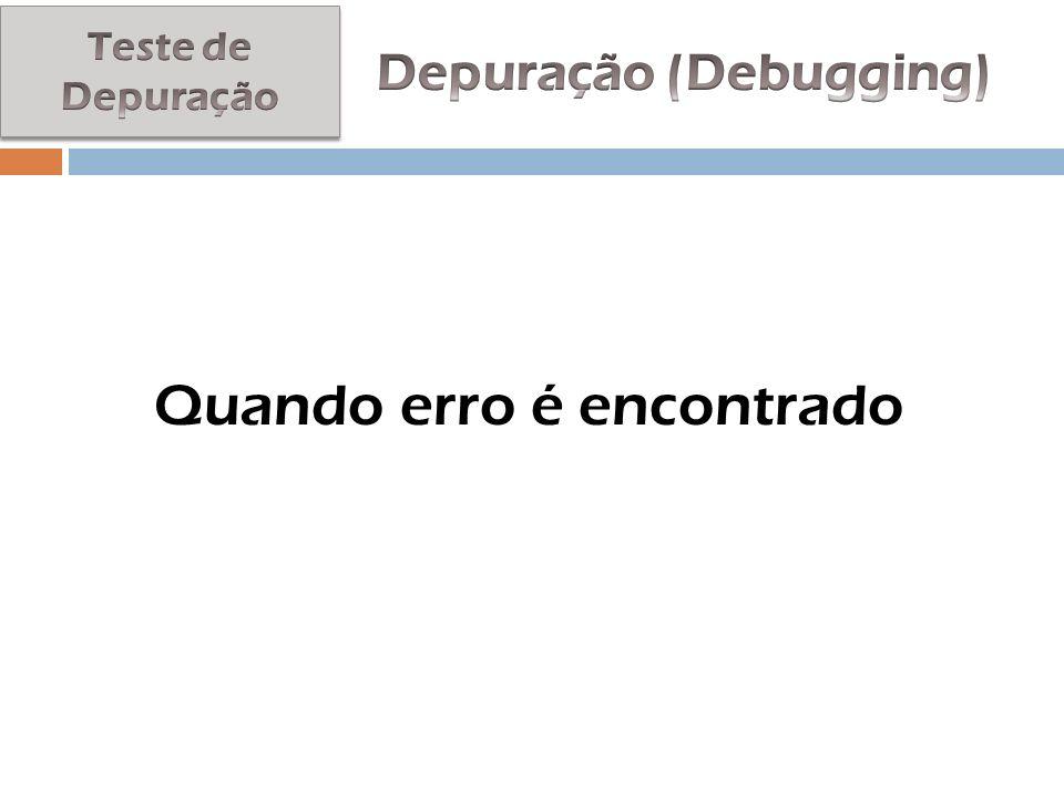 Depuração (Debugging)