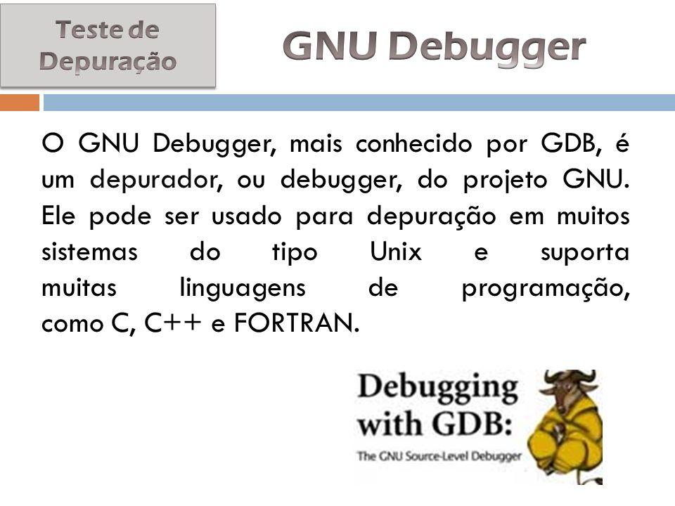 Teste de Depuração GNU Debugger.
