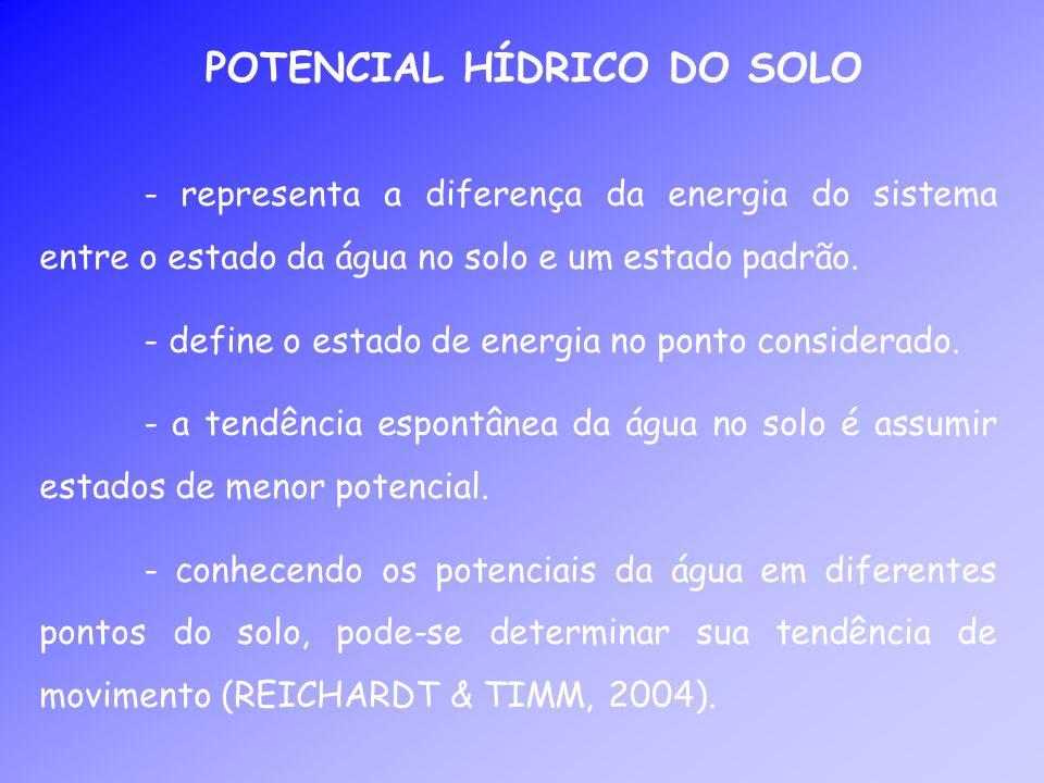 POTENCIAL HÍDRICO DO SOLO
