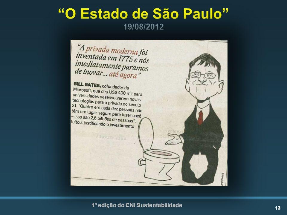 O Estado de São Paulo 19/08/2012