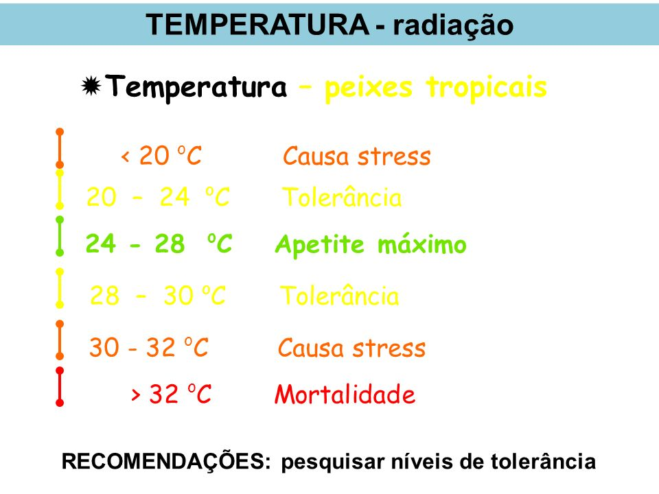 TEMPERATURA - radiação