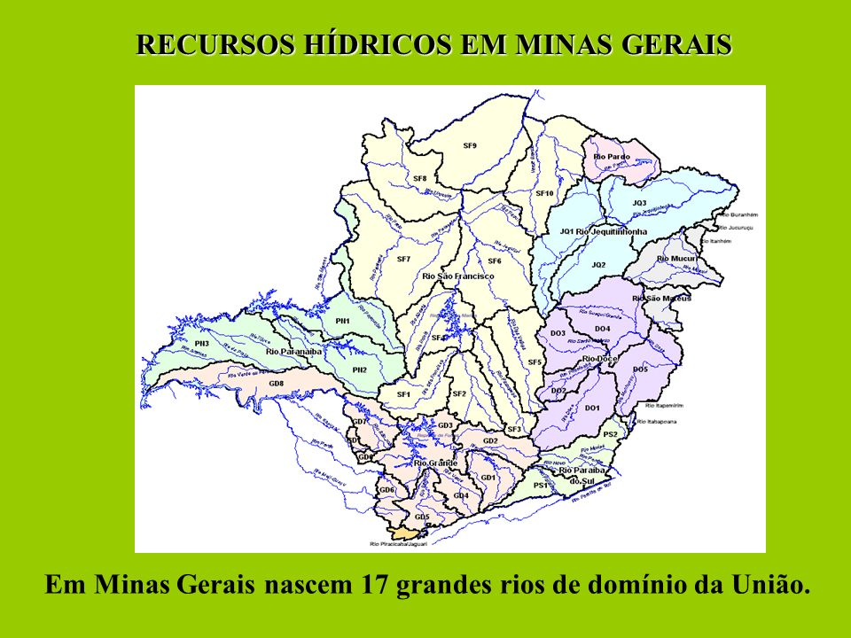 RECURSOS HÍDRICOS EM MINAS GERAIS