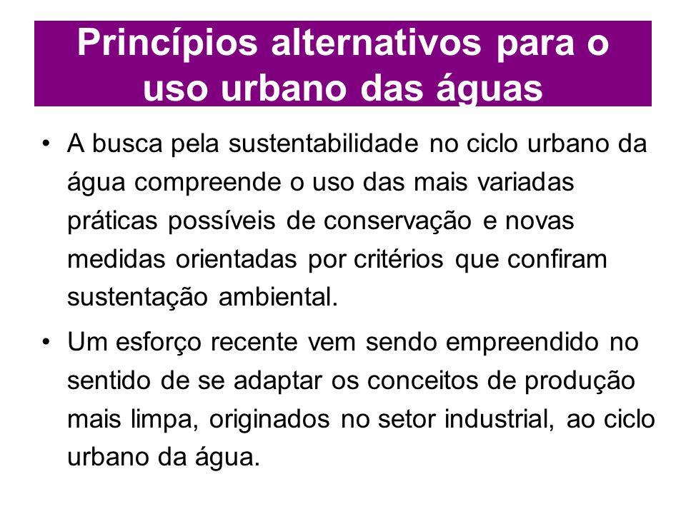 Princípios alternativos para o uso urbano das águas