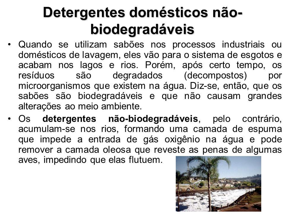 Detergentes domésticos não-biodegradáveis