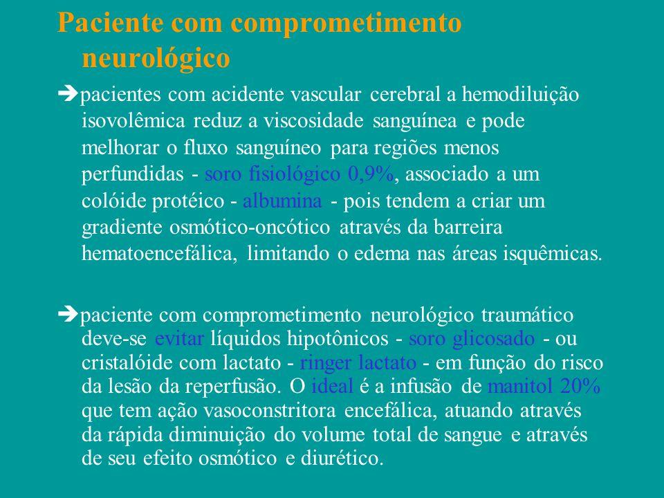 Paciente com comprometimento neurológico