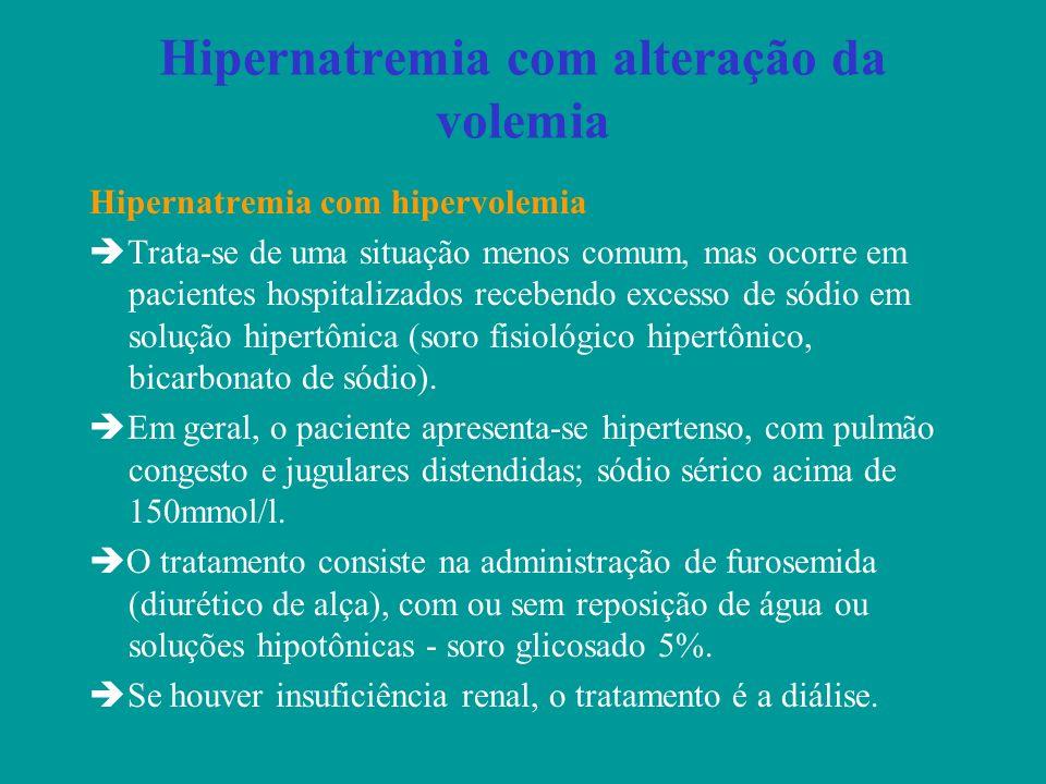Hipernatremia com alteração da volemia