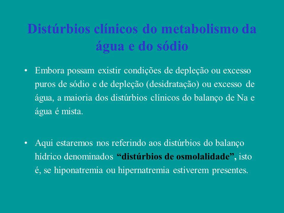 Distúrbios clínicos do metabolismo da água e do sódio
