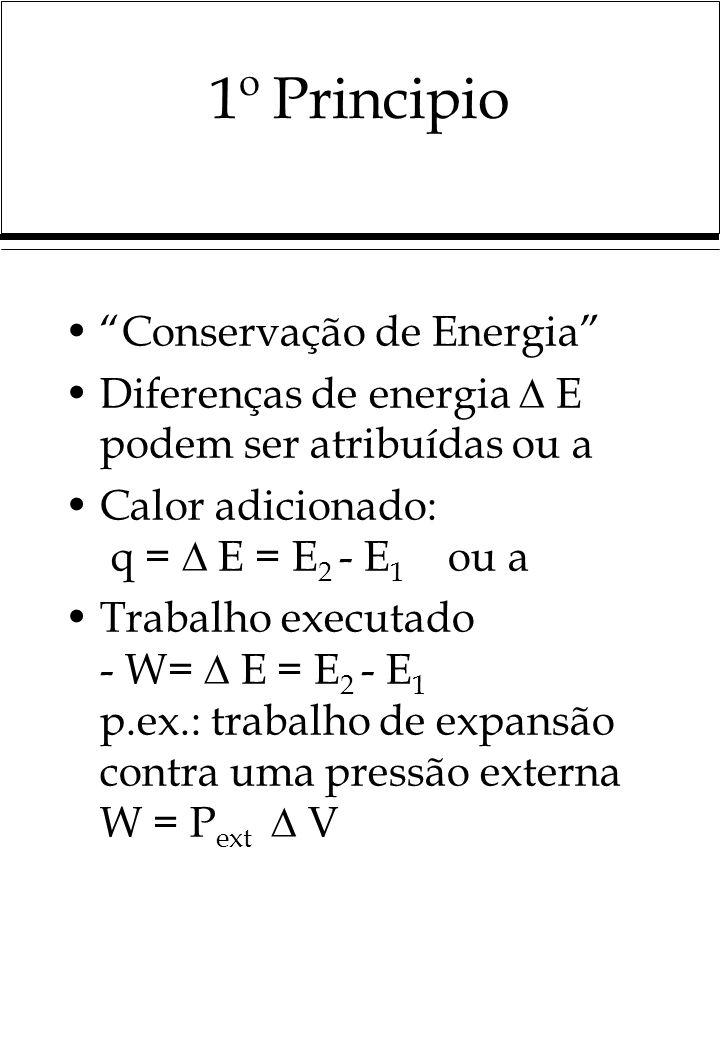 1º Principio Conservação de Energia