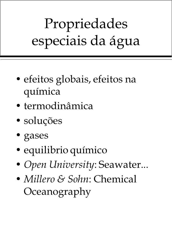 Propriedades especiais da água