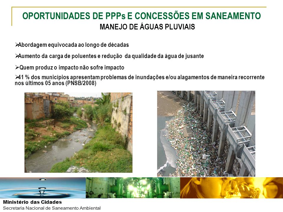 OPORTUNIDADES DE PPPs E CONCESSÕES EM SANEAMENTO
