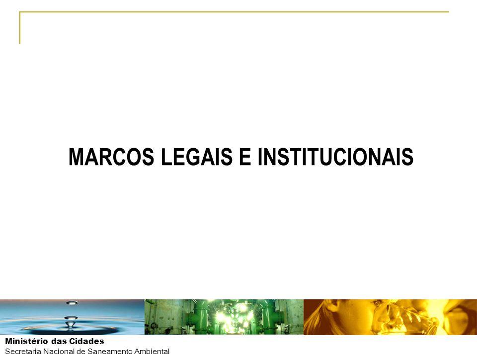 MARCOS LEGAIS E INSTITUCIONAIS