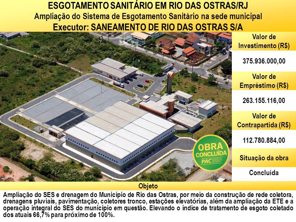 ESGOTAMENTO SANITÁRIO EM RIO DAS OSTRAS/RJ