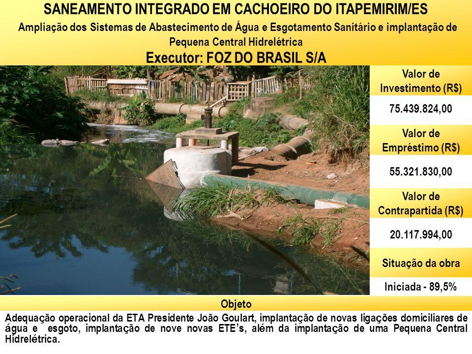 SANEAMENTO INTEGRADO EM CACHOEIRO DO ITAPEMIRIM/ES