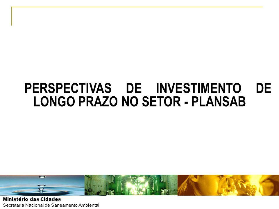 PERSPECTIVAS DE INVESTIMENTO DE LONGO PRAZO NO SETOR - PLANSAB