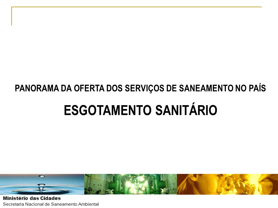 ESGOTAMENTO SANITÁRIO