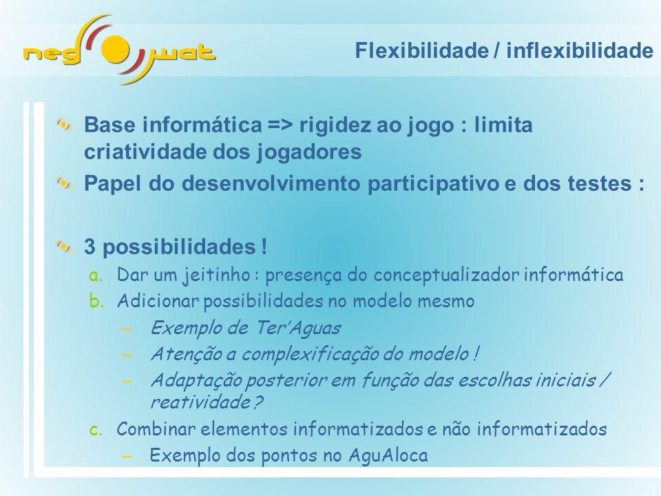 Flexibilidade / inflexibilidade
