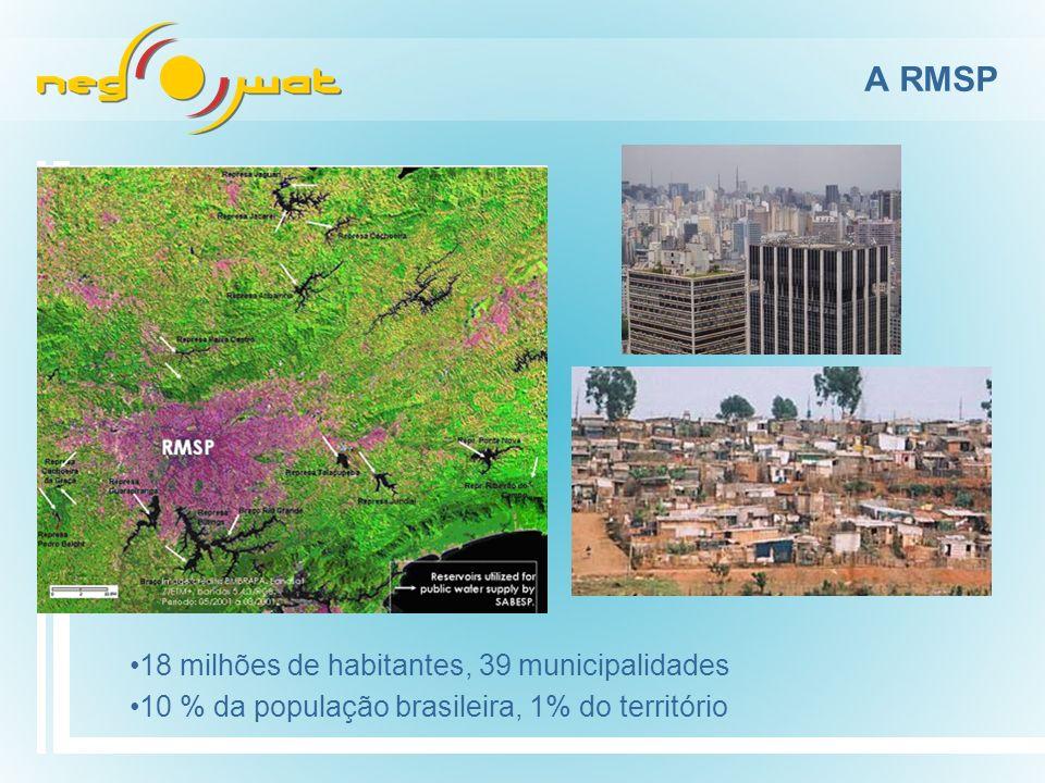 A RMSP RMSP Uma das áreas de maior adensamento urbano do mundo