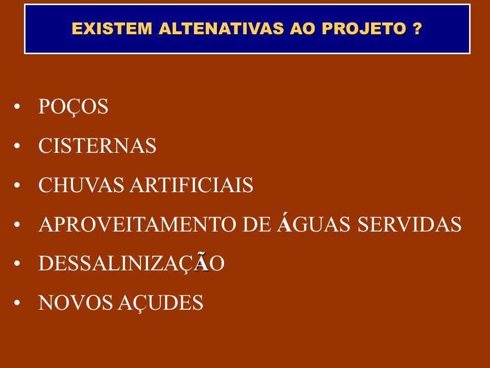 EXISTEM ALTENATIVAS AO PROJETO