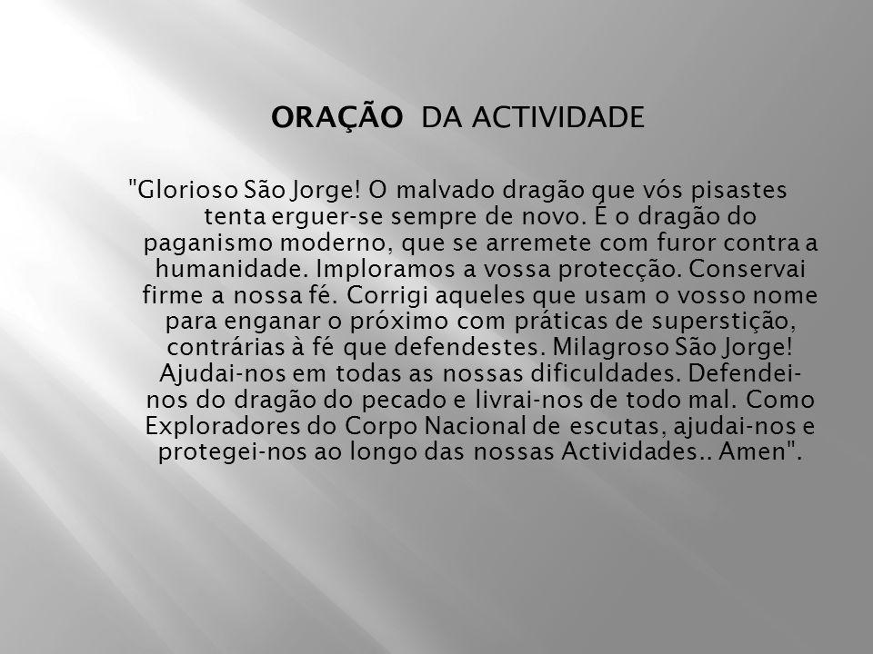 ORAÇÃO DA ACTIVIDADE