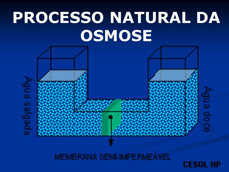 PROCESSO NATURAL DA OSMOSE