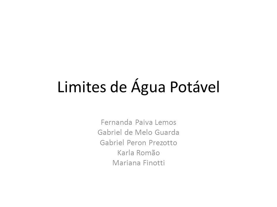 Limites de Água Potável