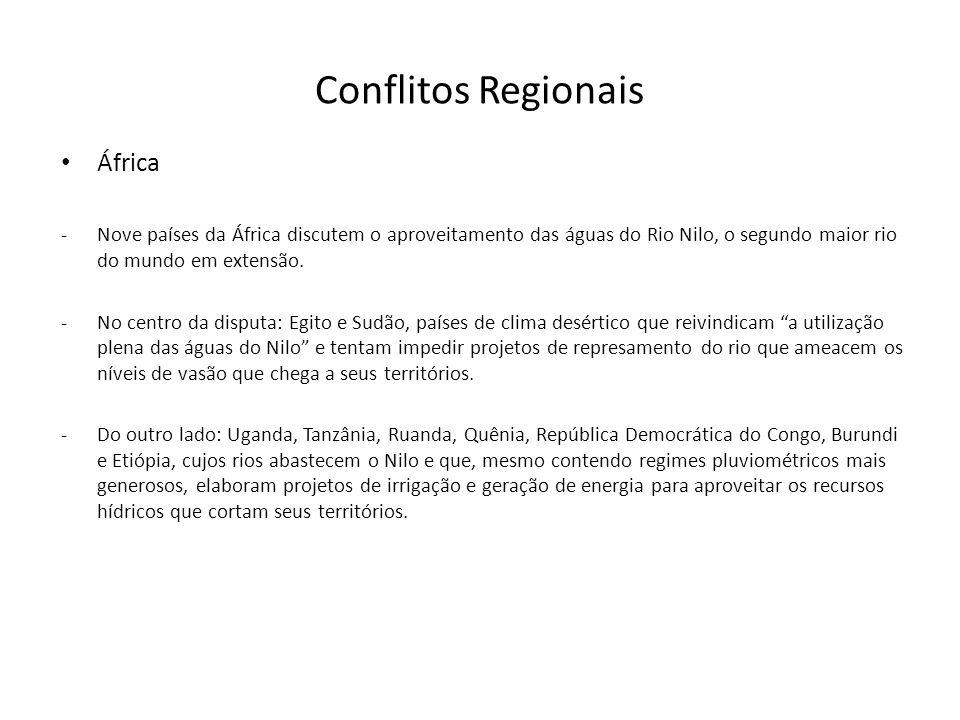 Conflitos Regionais África