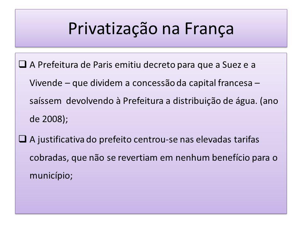 Privatização na França