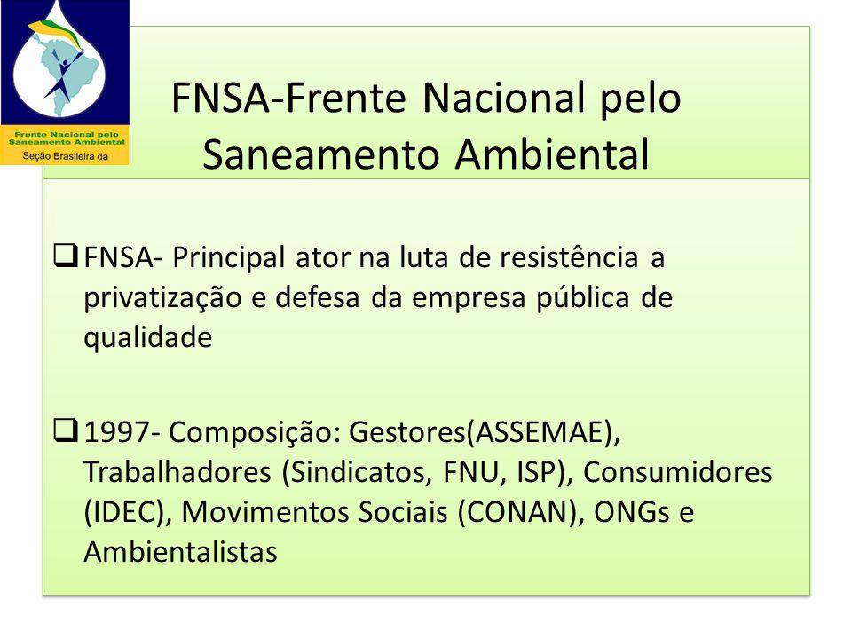 FNSA-Frente Nacional pelo Saneamento Ambiental