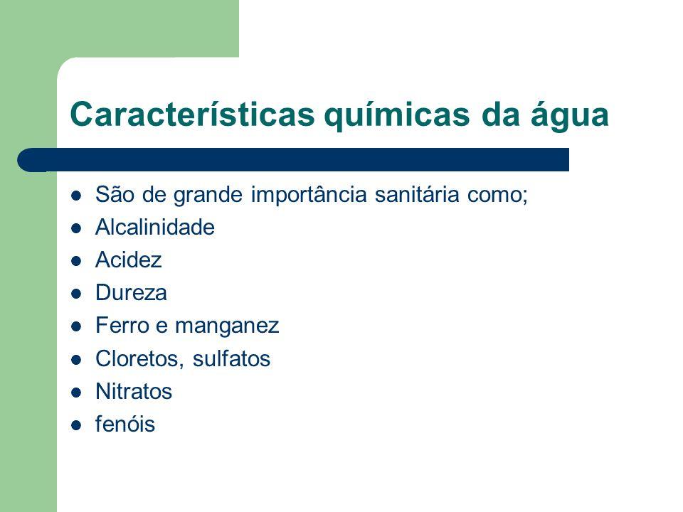 Características químicas da água