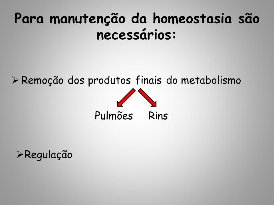 Para manutenção da homeostasia são necessários: