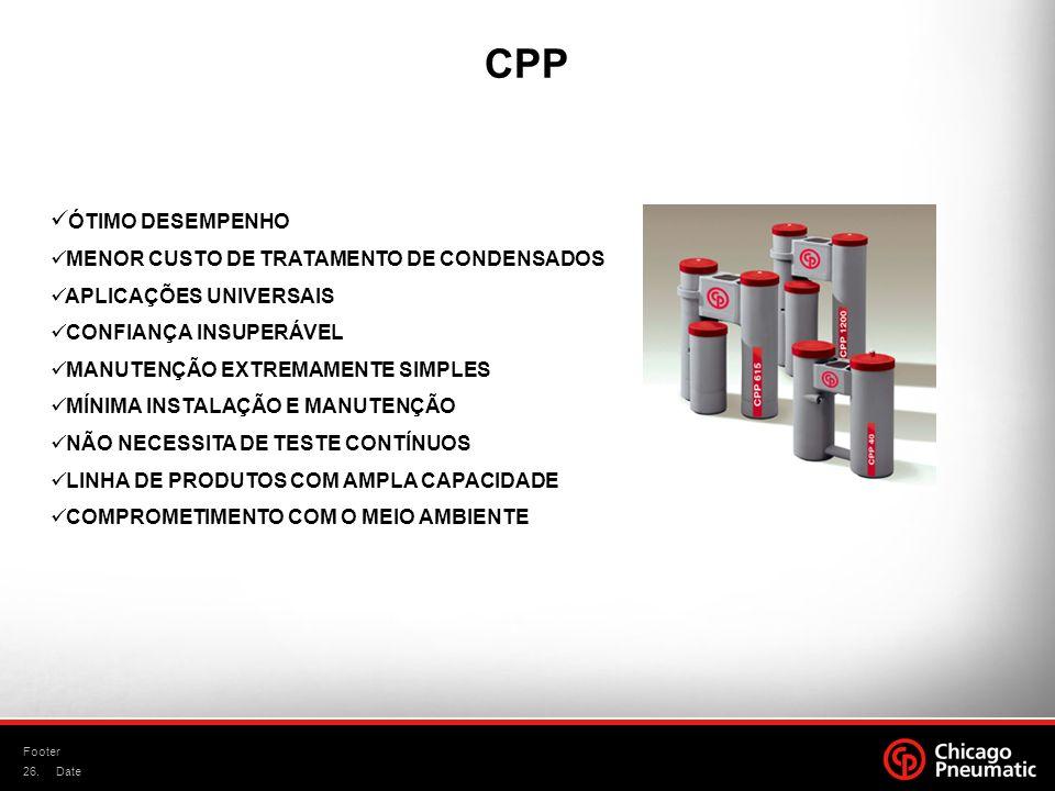 CPP ÓTIMO DESEMPENHO MENOR CUSTO DE TRATAMENTO DE CONDENSADOS