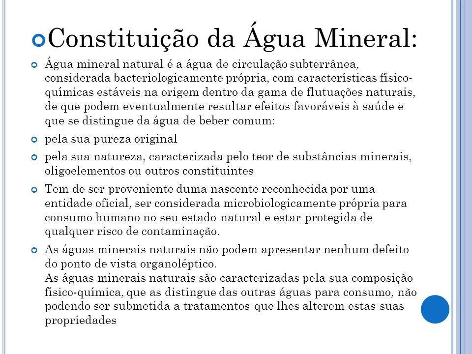 Constituição da Água Mineral: