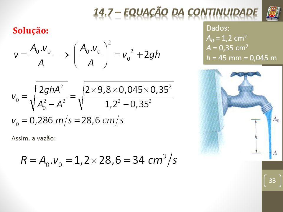 14.7 – equação da continuidade
