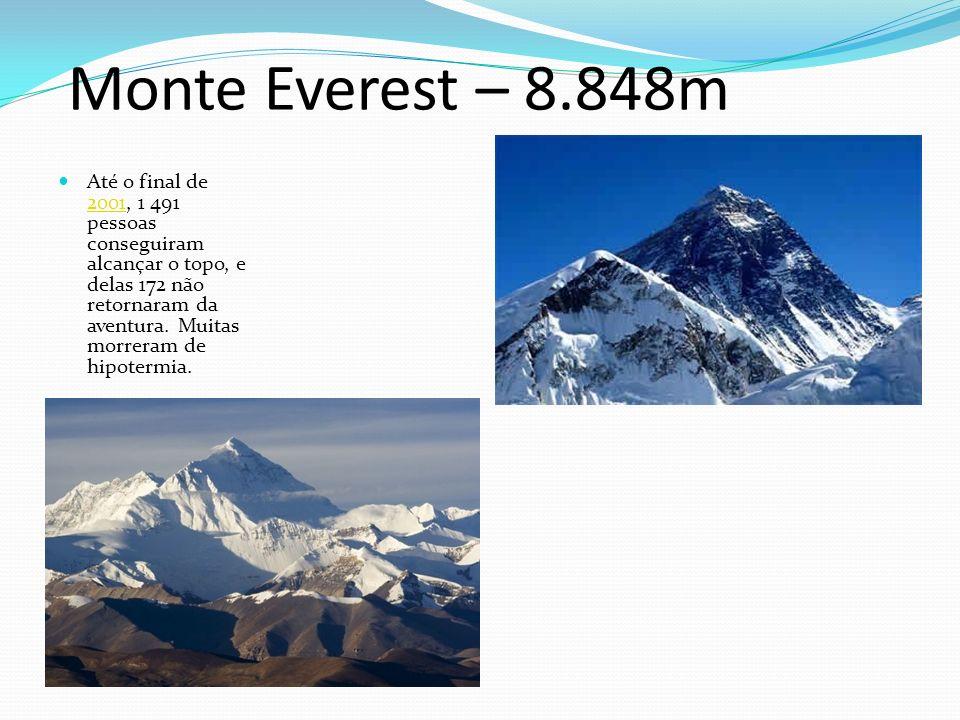 Monte Everest – 8.848m