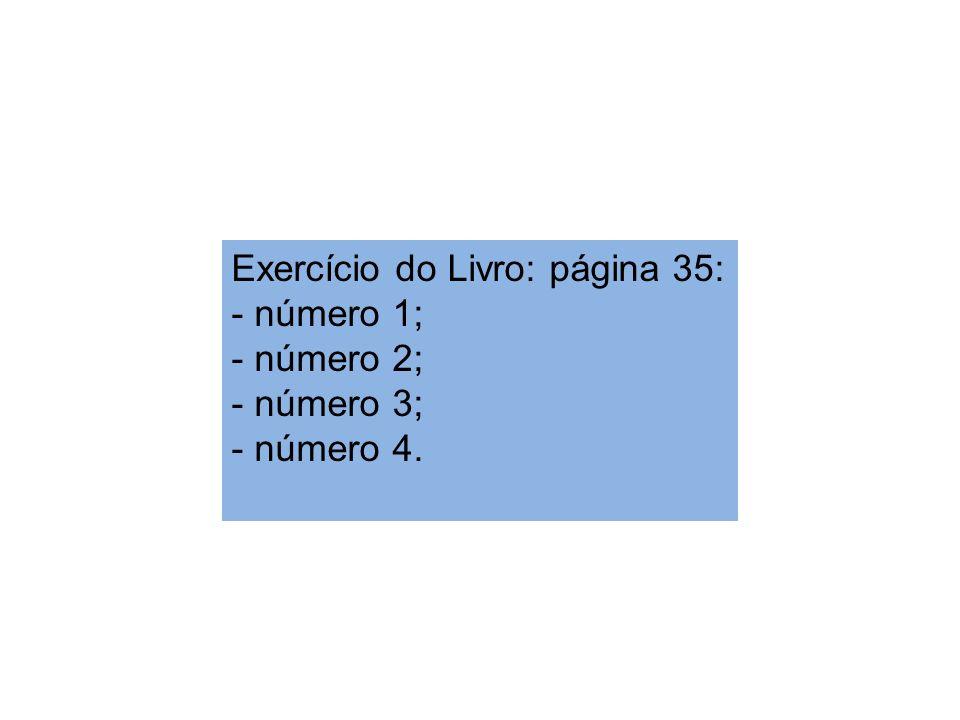 Exercício do Livro: página 35: