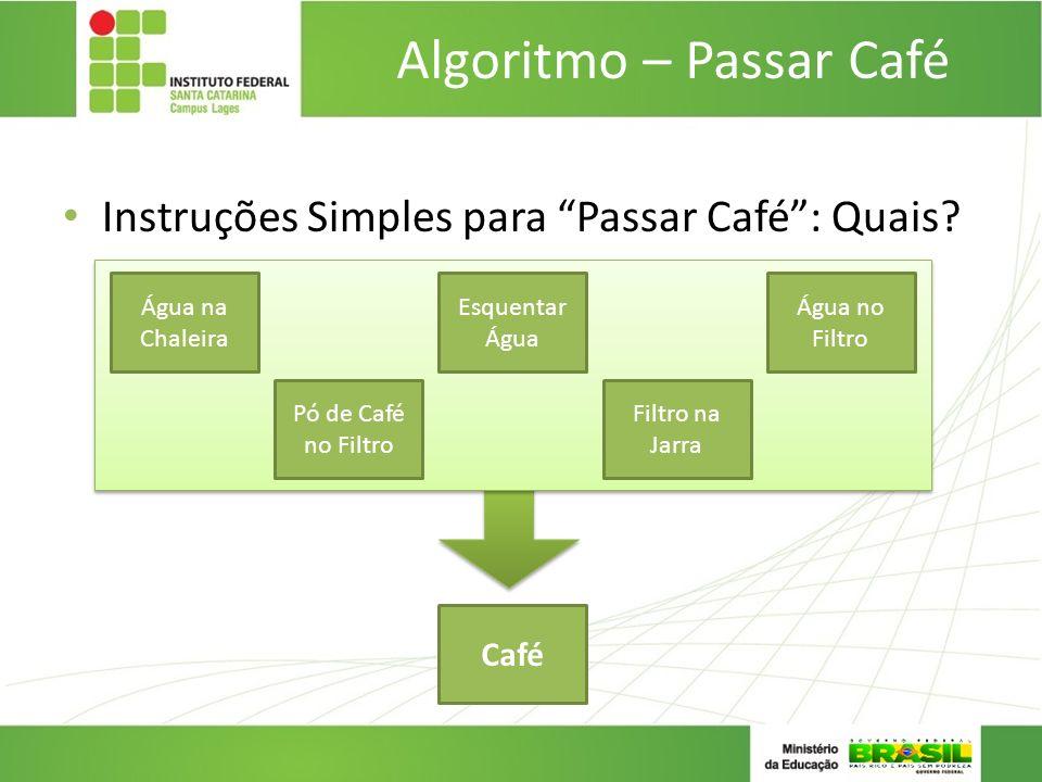 Algoritmo – Passar Café