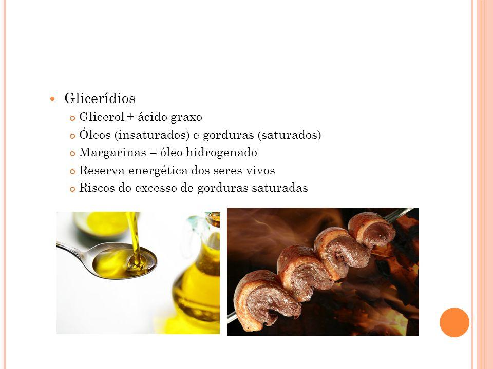Glicerídios Glicerol + ácido graxo