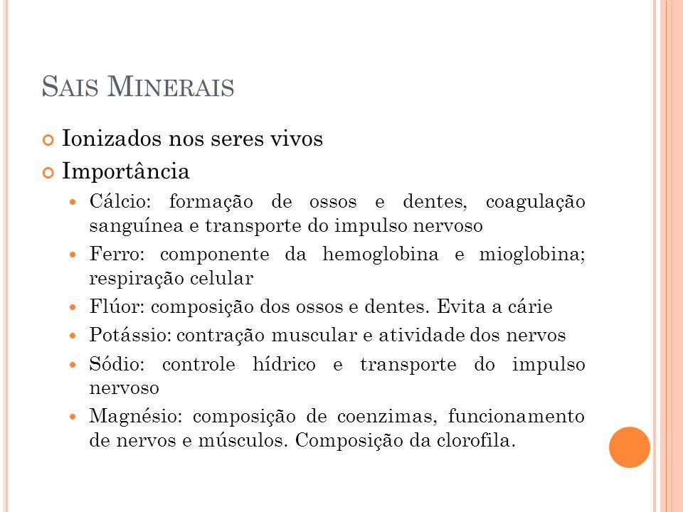 Sais Minerais Ionizados nos seres vivos Importância