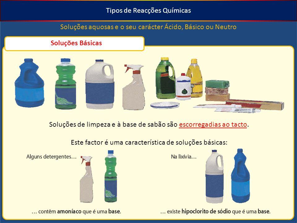 Tipos de Reacções Químicas