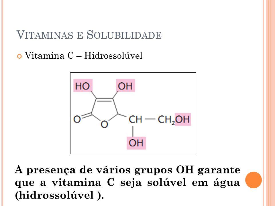 Vitaminas e Solubilidade