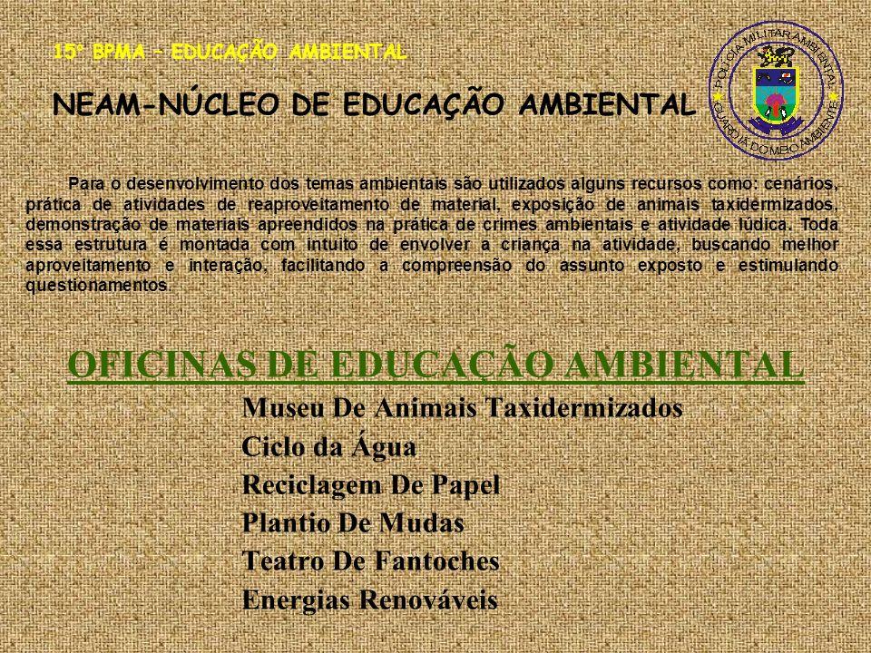 OFICINAS DE EDUCAÇÃO AMBIENTAL