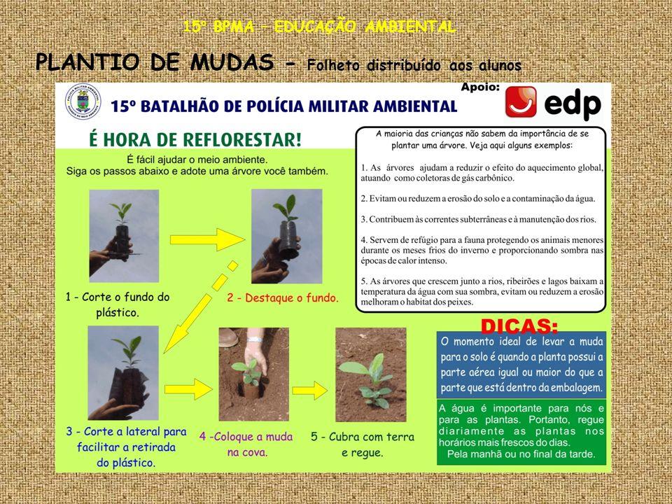 15° BPMA – EDUCAÇÃO AMBIENTAL