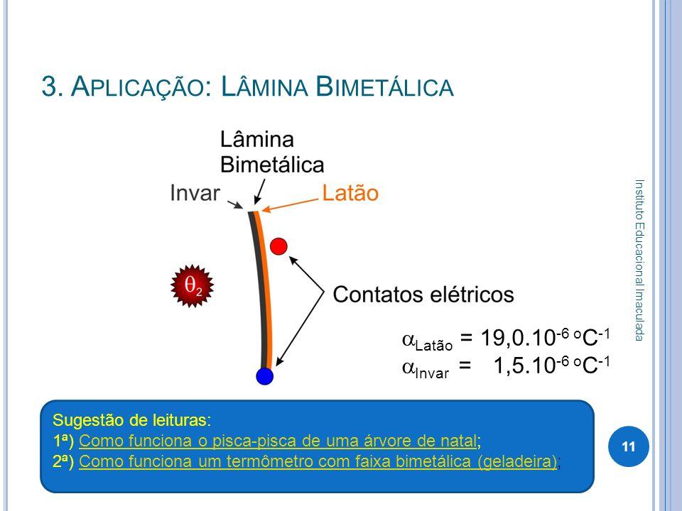 3. Aplicação: Lâmina Bimetálica
